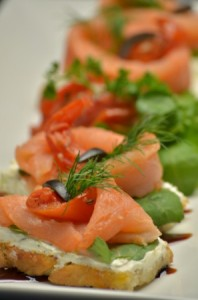Focaccia de Salmon Ahumado