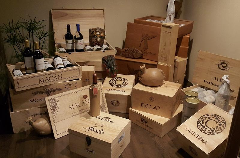vinos en cajas