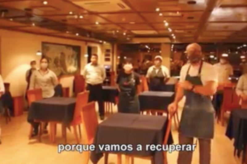 Este es el video que subió a la redes el Núcleo de Empresarios Gastronómicos.