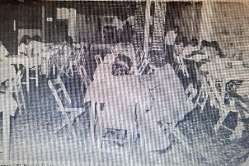 Foto obtenida de un recorte del diario ABC Color, del año 1978. Corresponde al restaurante El Rosedal.
