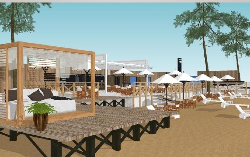 Así luce el proyecto para el Manguruyu que se está construyendo en la playa San José, en San Bernardino.