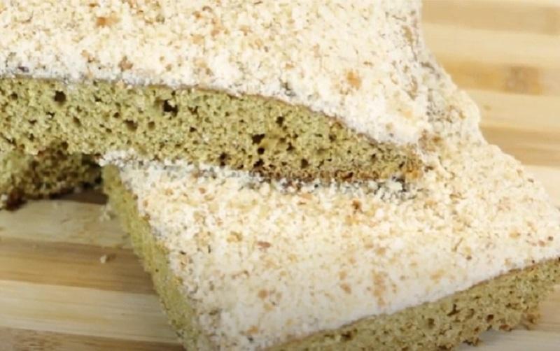 Un torta hu moderna, la masa tradicional pero con un costra dulce en la parte superior, producto de una receta de Sarita Garofalo.