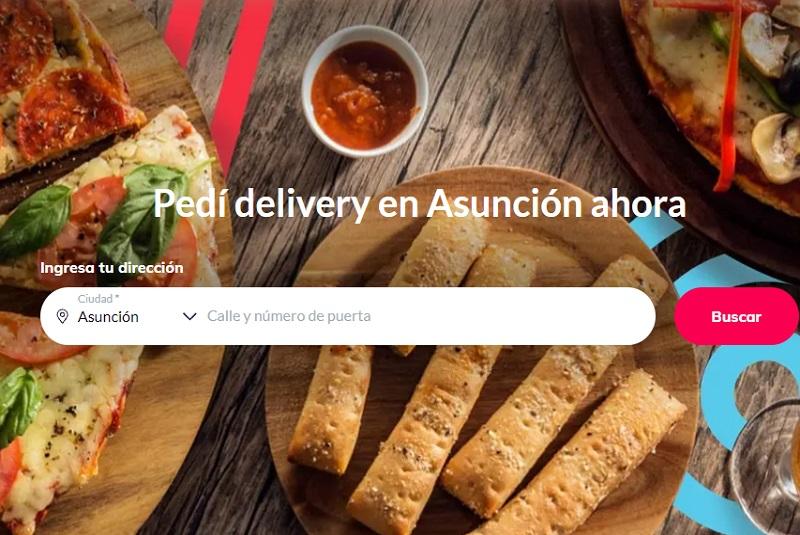 Esta es la página principal del sitio web de Pedidos Ya Paraguay. Se trata de la empresa de delivery más importante de América Latina.